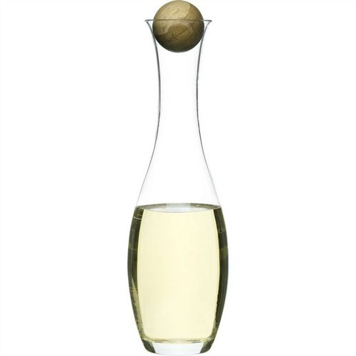 Carafe Hand Blown with Oak Stopper 1l